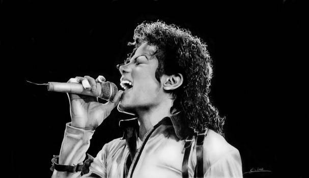 Portrait of Michael Jackson