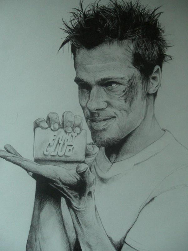 Brad Pitt aka Tyler Durden by Monkey-Jack