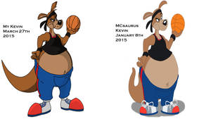 Kevin by me and MCsaurus comparison