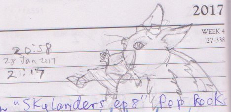 Trico with boy in mouth sketch by b1k