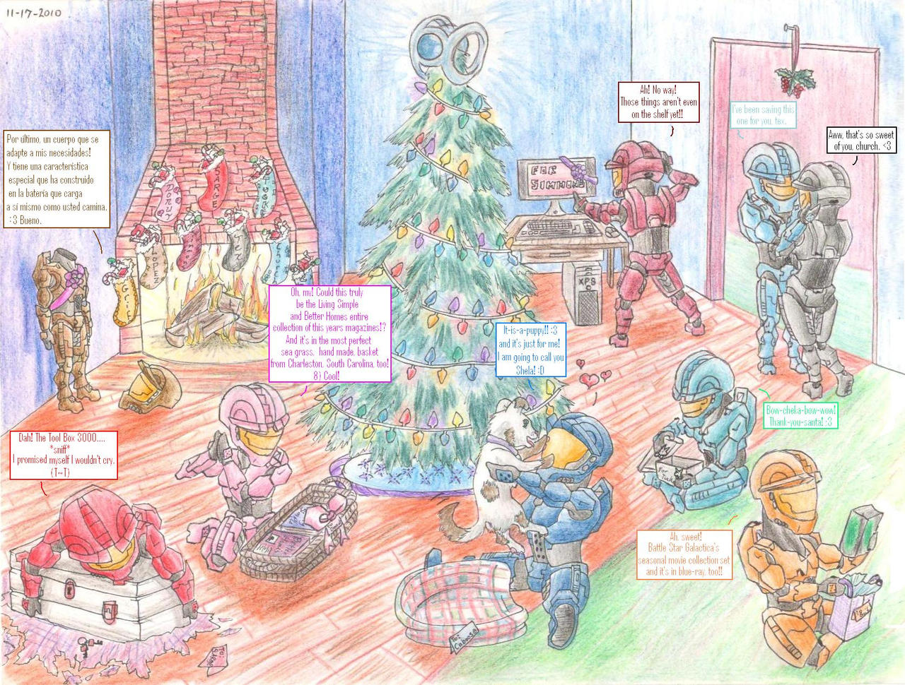 Red Vs Blue Christmas By Muddytiger On Deviantart