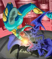 Fusion Samus vs Ridley-X by MuddyTiger