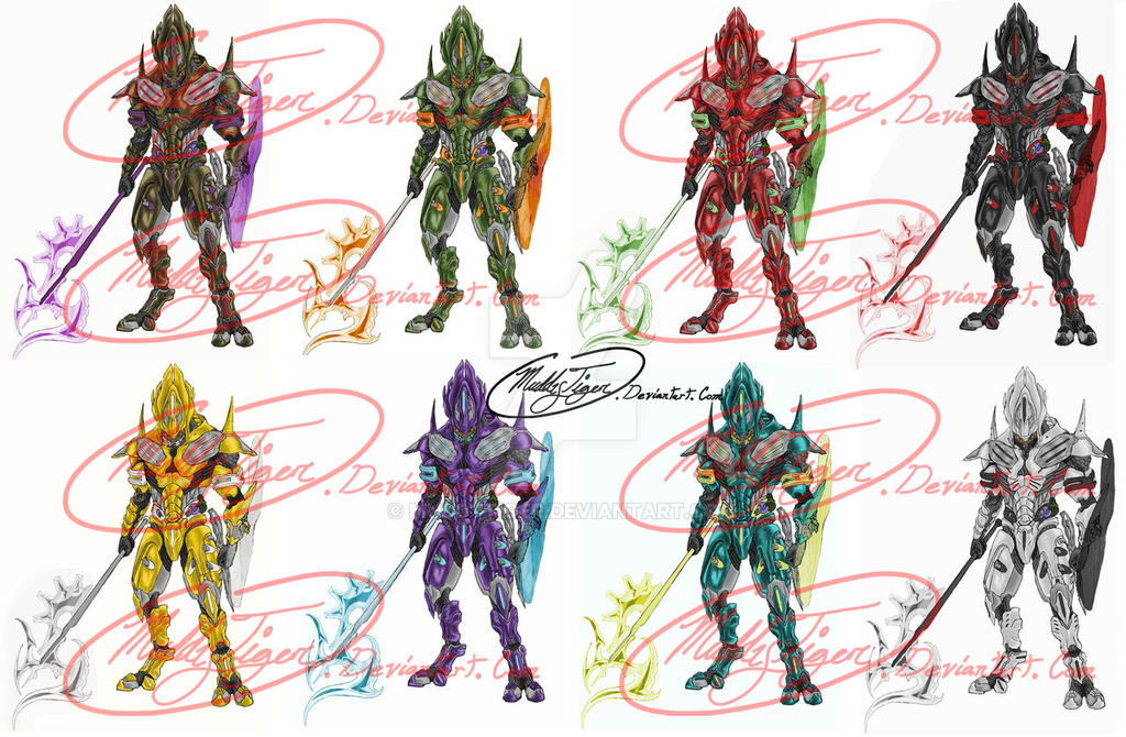 Elite armor color combinations by MuddyTiger