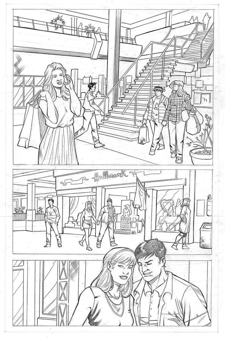 YoungJustice page01 MarcusRosado pencil sample web by MarcusRosado