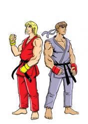 SF Ken and Ryu studie af 300 cor