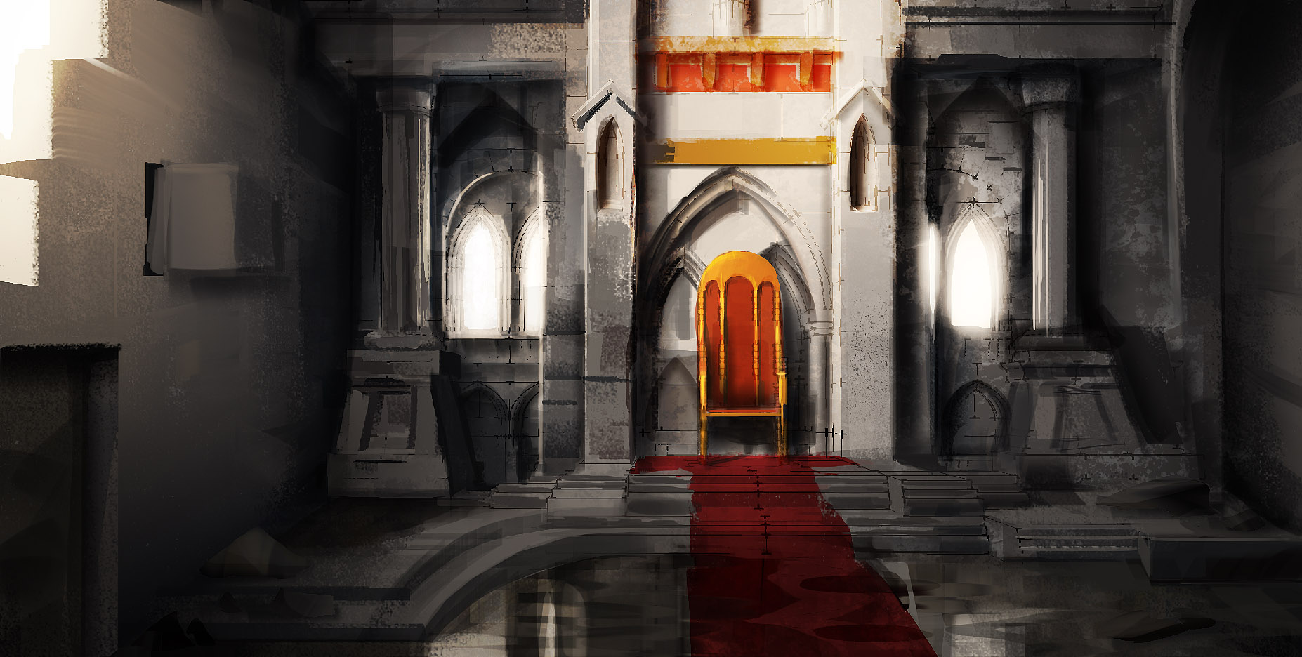 Castle room background - Throne Room By Makkon Throne Room By Makkon