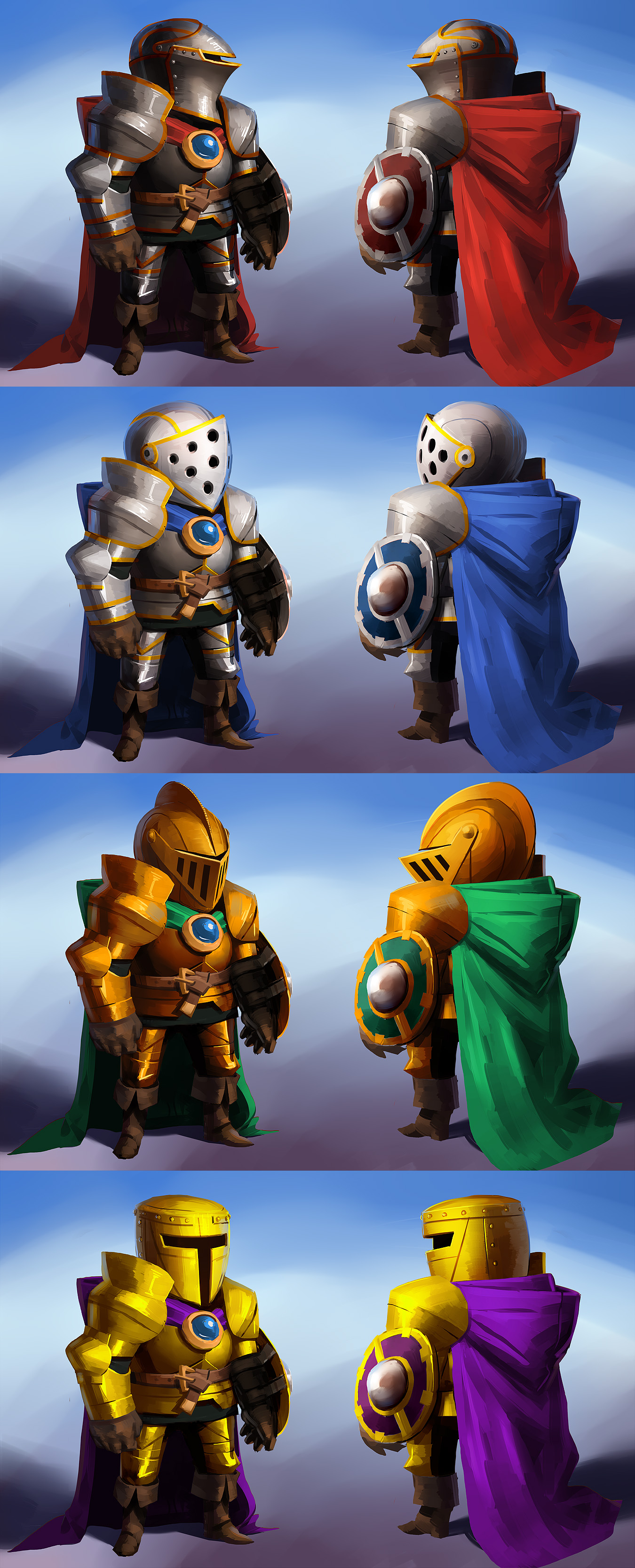 Cape Chronicles - Final Knight Concepts by Makkon