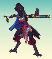 Commission: Kenku Monk