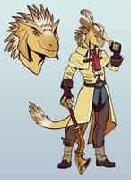 Commission: Brass Dragonborn Bard