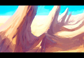 speedpaint 06: desert 002 by Makkon