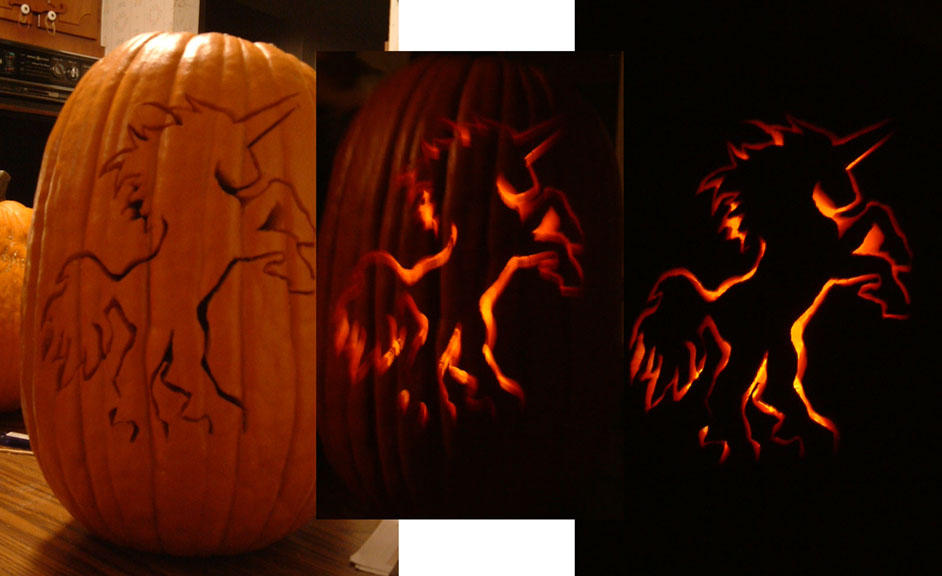 The unicorn pumpkin by omnipredation on deviantart