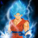 goku super saiyan blue god