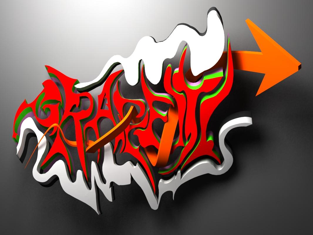 Graffiti in 3d by anhpham88 graffiti in 3d by anhpham88