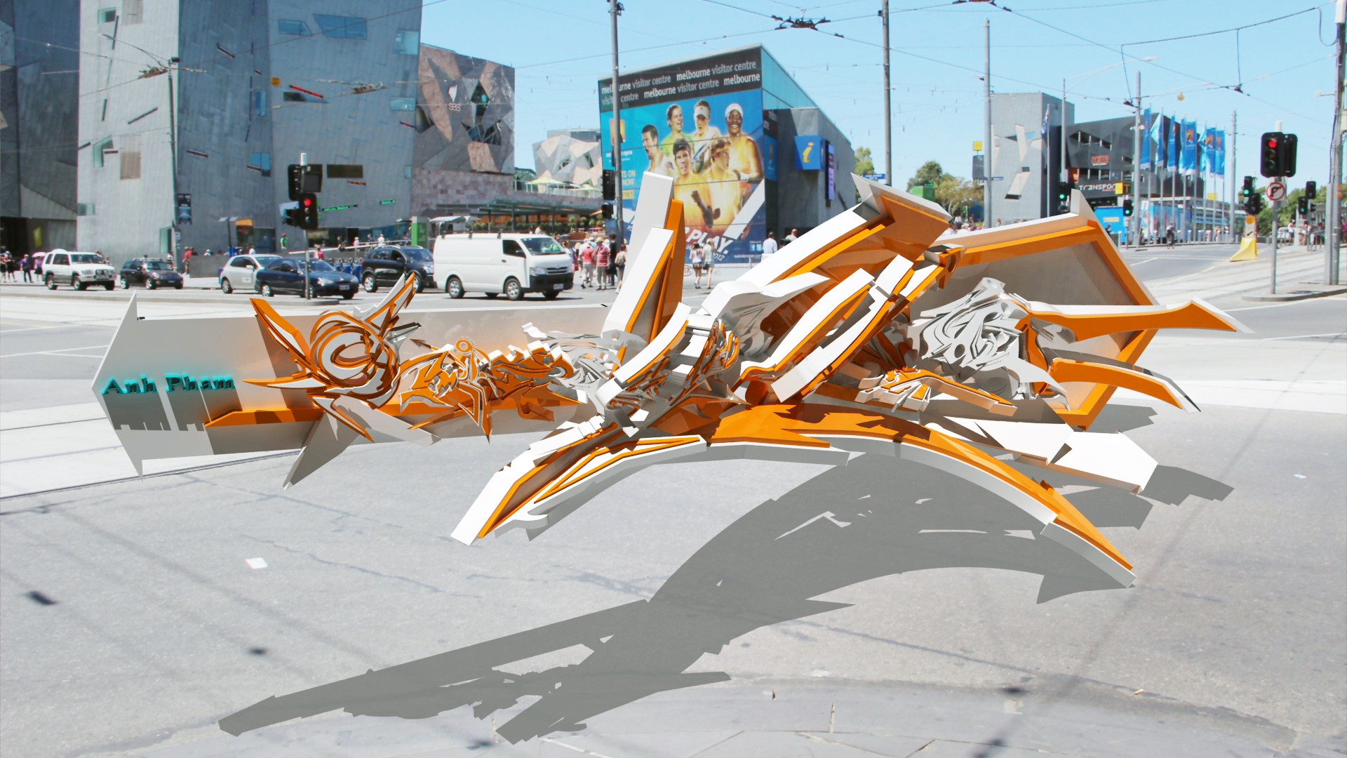 3d Graffiti Real Life By Anhpham88 On Deviantart