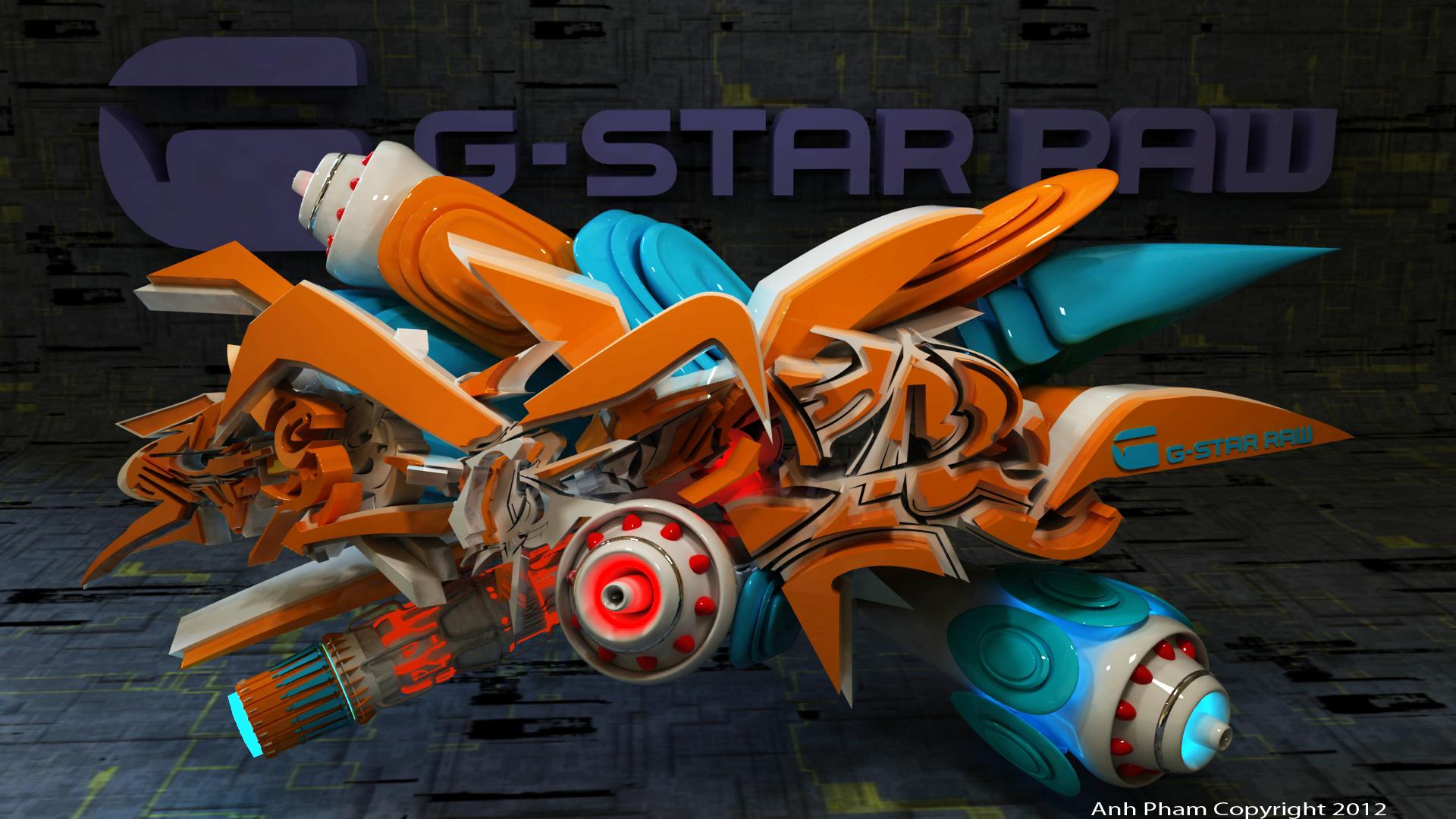 G star raw 3d graffiti by anhpham88 on deviantart for 3d art maker online