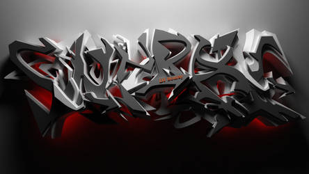 DJ SouRay 3d graffiti WILD STYLE