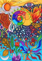 Sacred Symbols by merlynhawk
