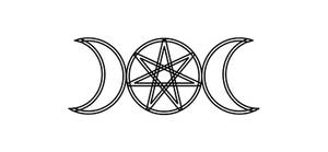 7-Pointed Star and Moons - light