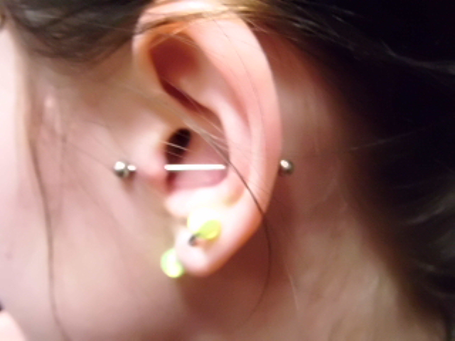 Horizontal Conch Tragus By Lisamassacrepiercing On Deviantart