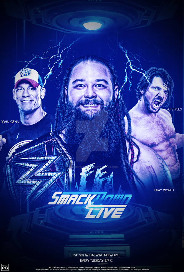 Smackdown Live Poster #AdamRedesing by DEMONP1DESINGS