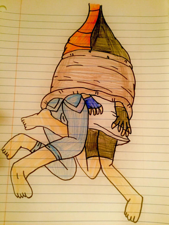 Pan and Videl Vore (Barefoot) by lileehilee