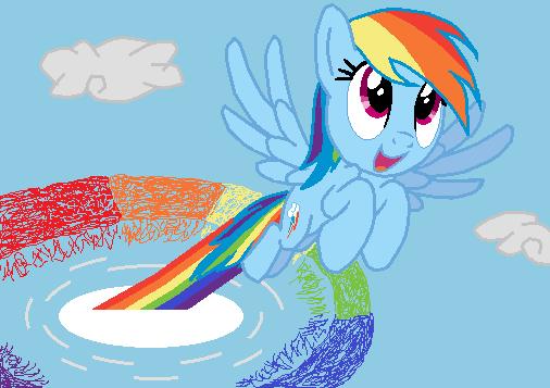 Rainbow Dash Sonic Rainboom by superdarklugia