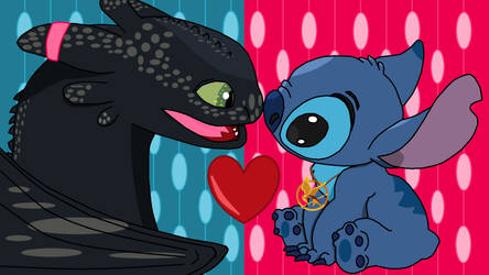 Toothless And Stitch by superdarklugia