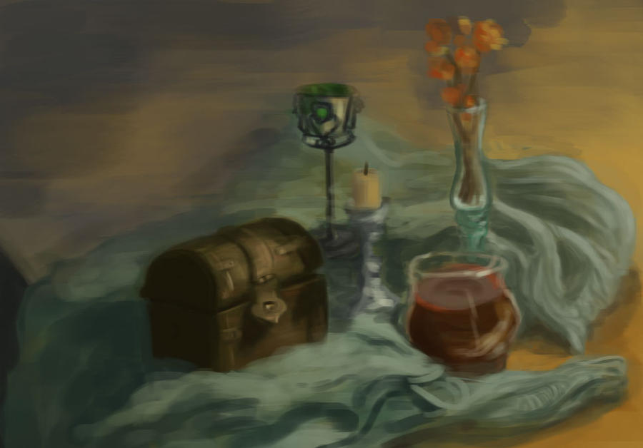 Sketch still life by la-Structure-du-Ciel