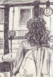 Coffee Girl by la-Structure-du-Ciel