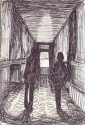 Dark corridor by la-Structure-du-Ciel