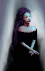 Misty widow by la-Structure-du-Ciel