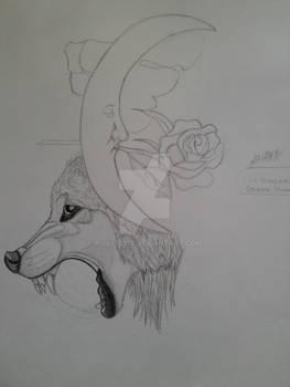 W.I.P Wolf Moon Tattoo