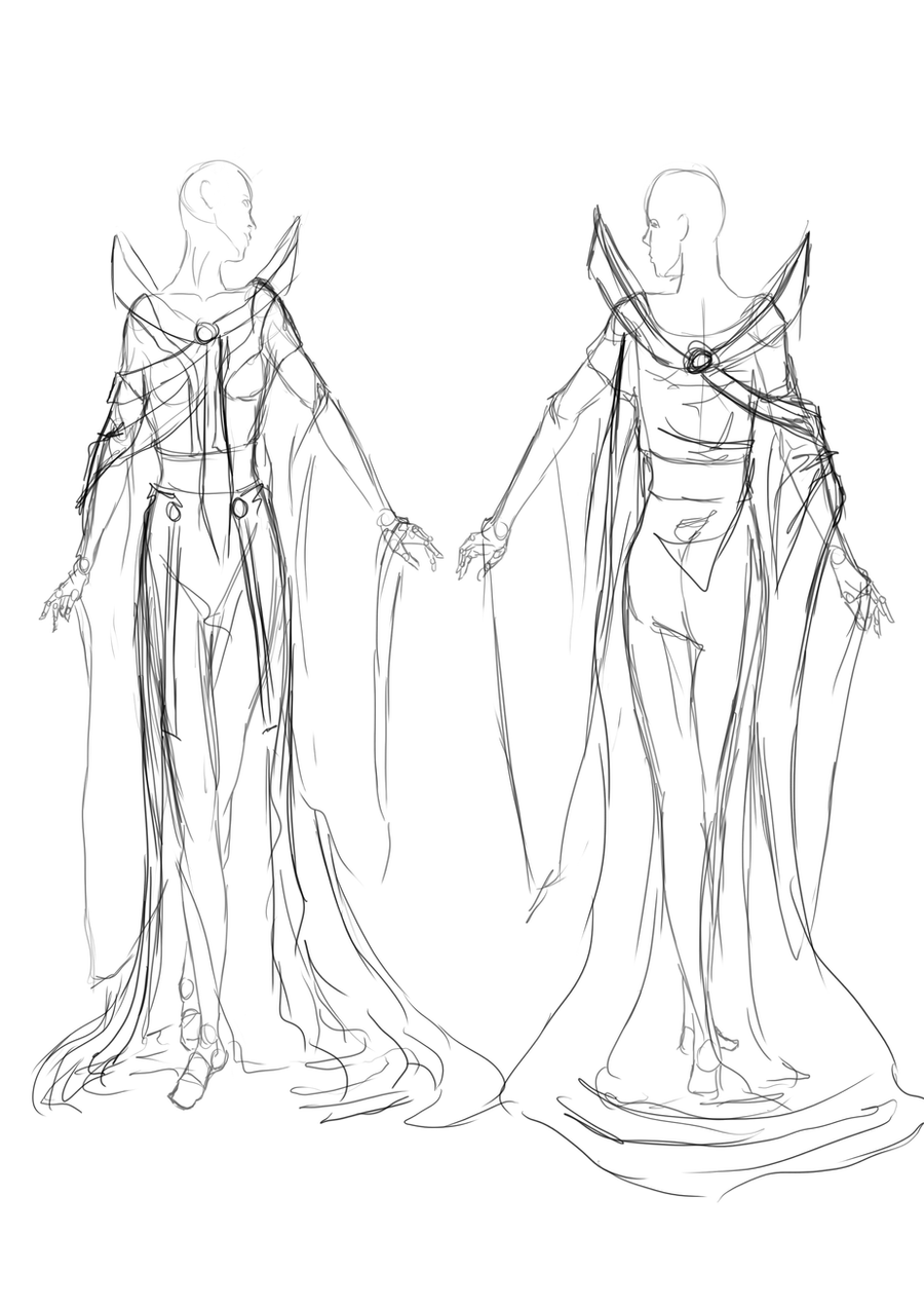 Clothing Sketch Empress by Mlle-Tenebrist on DeviantArt