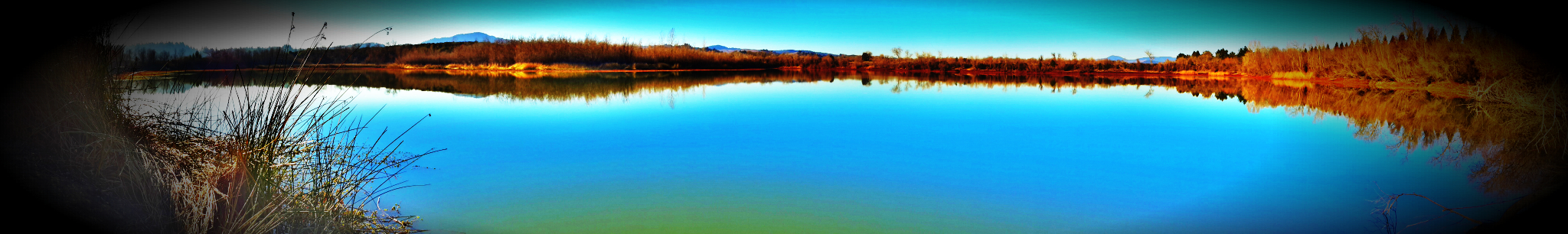 Panorama of a Sonoma County lake by Firefighter-Miller