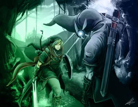 Link vs Dark Link by RazerChris
