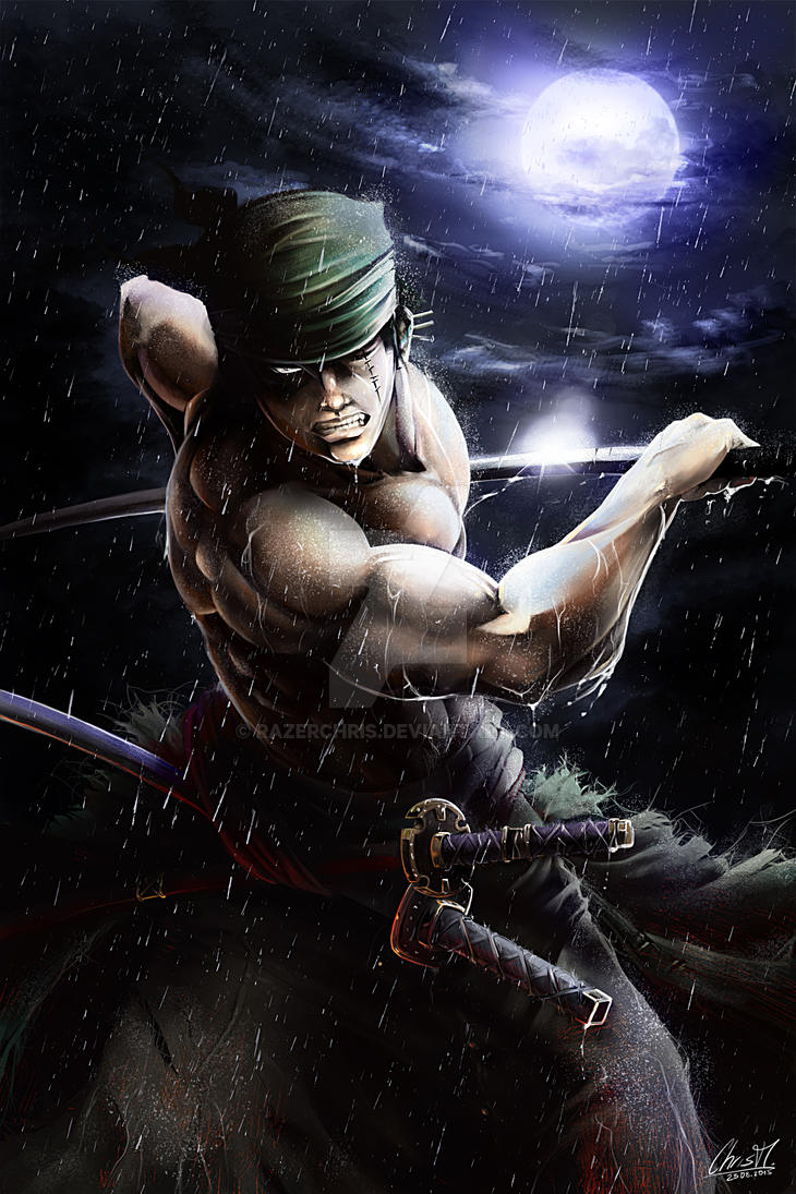 One Piece Zoro Time to get serious by RazerChris