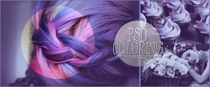 Plum Purple PSD Coloring