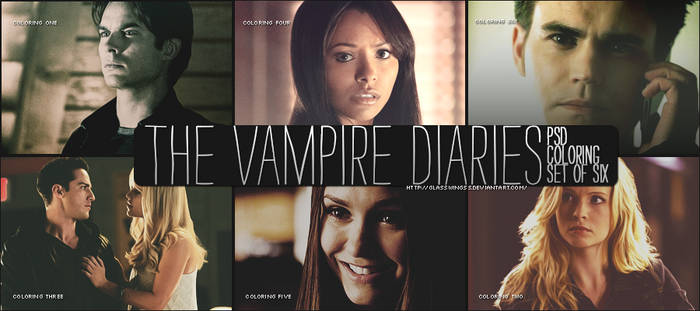 The Vampire Diaries PSD Coloring - Six Colorings