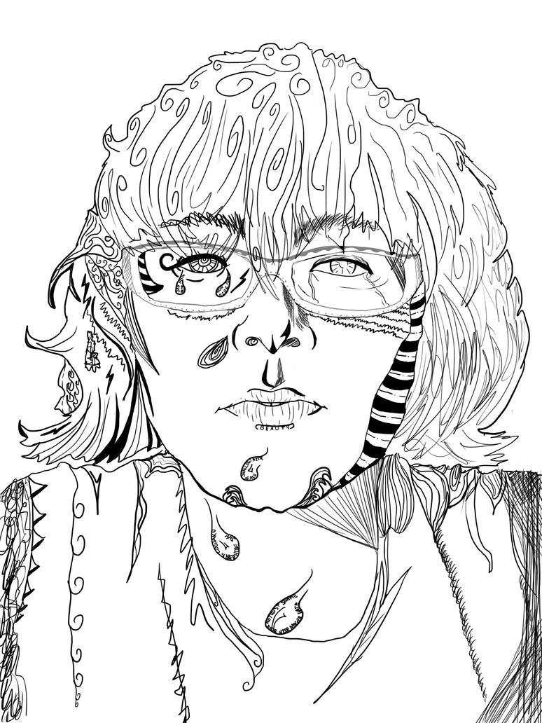 Famous Expressive Line Art : Expressive line portrait by azurfrost on deviantart