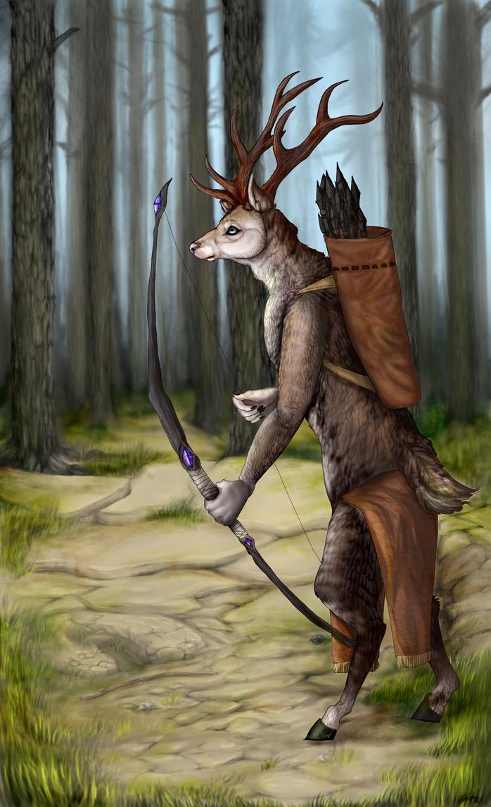 Cervus Elaphus Anthro by Stoormy