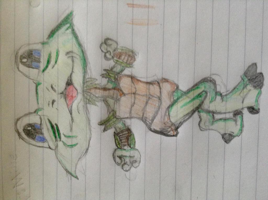 Manga Frog Humanoid Chibi by AugustBeast