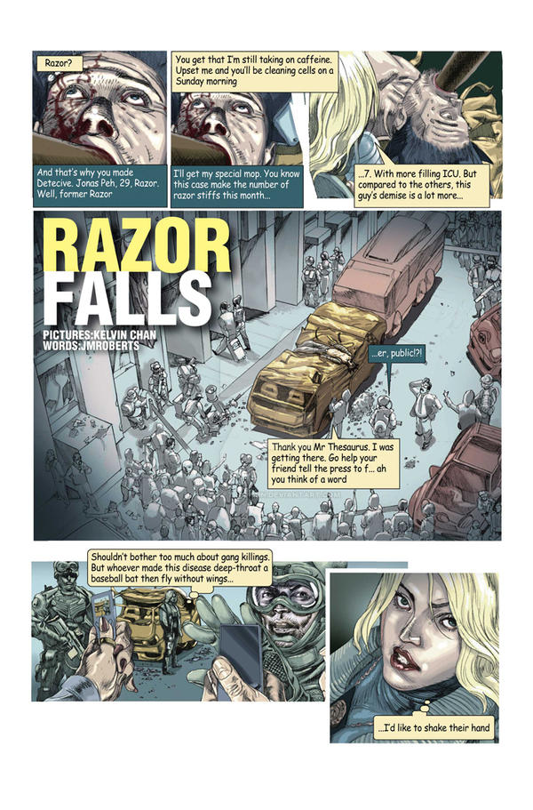 Razor Falls web comic by rocketraygun