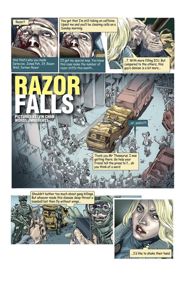 Razor Falls web comic by rocketraygun