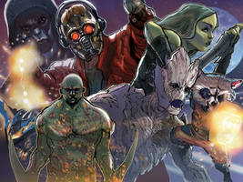 GUARDIANS OF THE GALAXY by rocketraygun