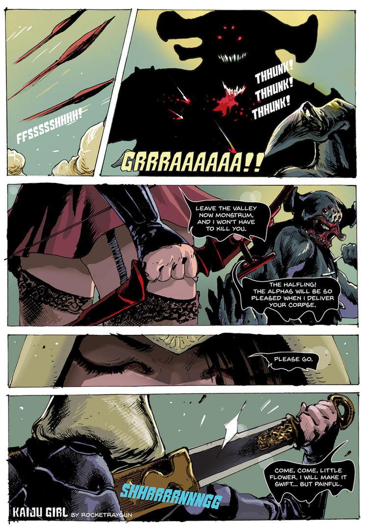 KAIJU GIRL Page4 by rocketraygun