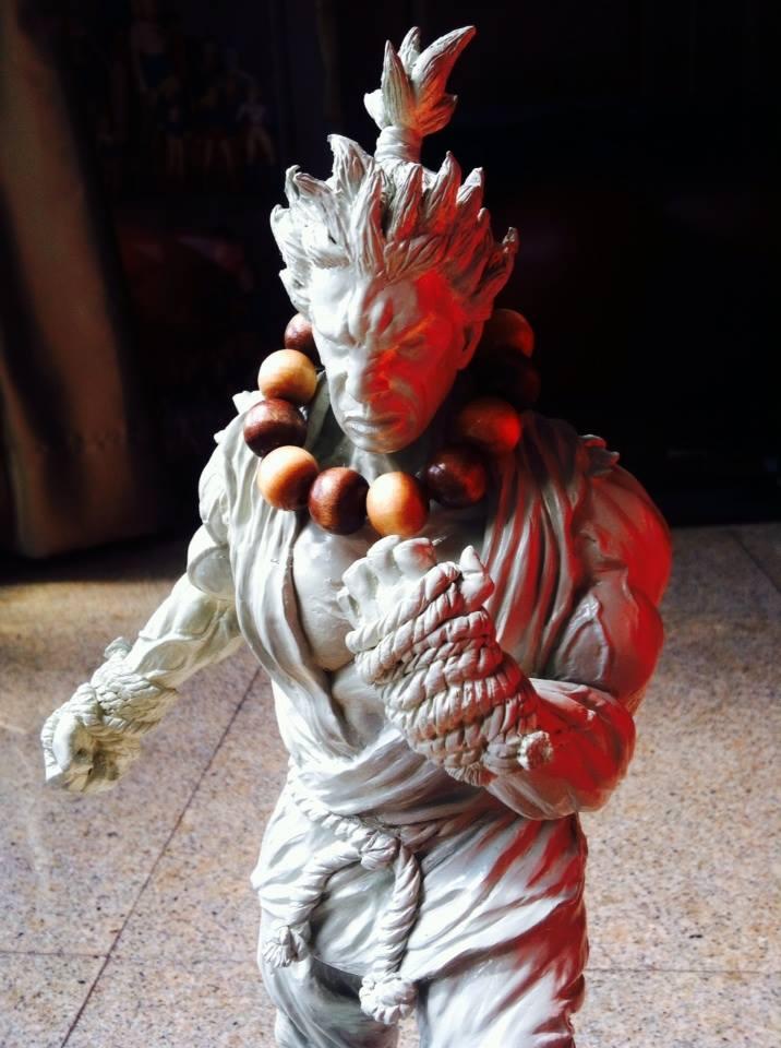 AKUMA statue by rocketraygun