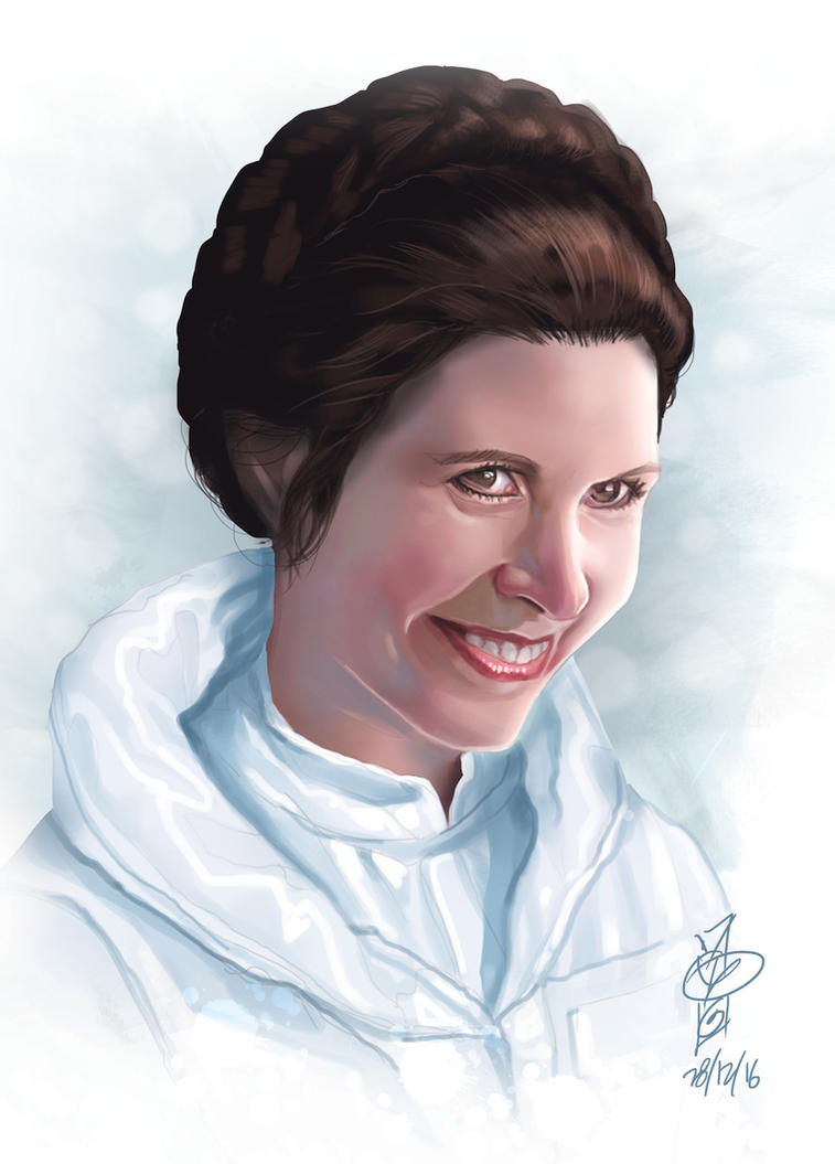 Leia tribute by rocketraygun