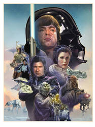 The Empire Strikes Back 40th Anniversary print