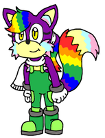 Niji the Rainbow Fox by Erik-the-Okapi