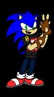 Sonic's New Look (GIFT!) by Erik-the-Okapi